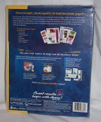 avery glossy white tri fold brochures 8 5x11 70 sheets 80 seals