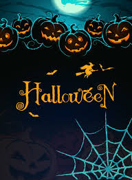 fashion halloween background attractive spider pumpkins halloween
