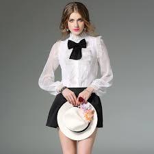 bow tie blouse luxury silk s shirts 2017 lace vintage blouses