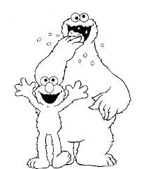 sesame street coloring pages basic learning zion 2th
