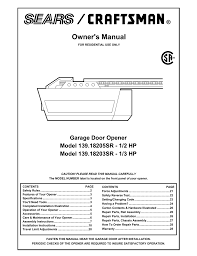 sears garage door opener installation 41a3625 garage door opener wageuzi