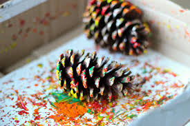 pinecone painting thanksgiving turkey craft no time for flash