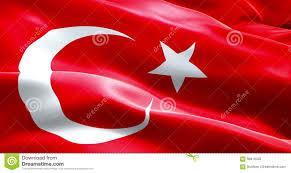 Islam Flag Animation Flag Of Turkey Strip Waving Texture Fabric Background