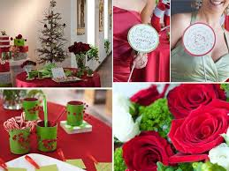 Christmas Wedding Decor - red white and green holiday inspired winter wedding decor