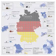 dot and flag map of germany infographic design stock vector art