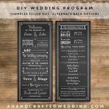 chalkboard wedding program template free wedding program templates free wedding program template