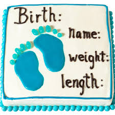 birth announcement cake parenting