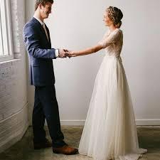 chiffon wedding dresses a line v neck sleeves ivory chiffon wedding dress with lace