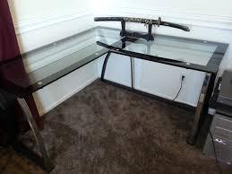 Diy Glass Desk Glass Corner Desk Desk Design Best Glass L Shaped Desk Designs