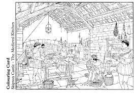 coloriage cuisine coloriage cuisine du moyen age img 14893