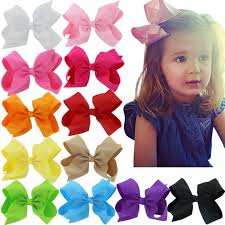 hair bow 6 inch hair bows big large grosgrain ribbon boutique