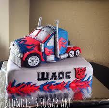 optimus prime cakes transformers optimus prime truck blondie s sugar