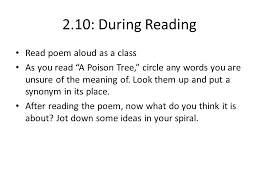 2 10 the poison tree symbolism and meaning ppt download