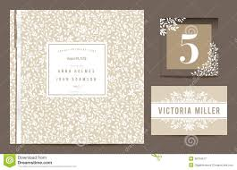Guest Invitation Card Set Backgrounds To Celebrate The Wedding Royalty Free Stock