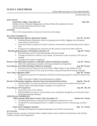 chronological event planner resume template