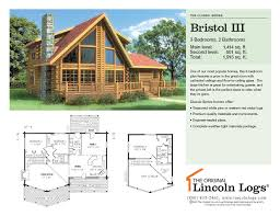 log home floorplan bristol iii the original lincoln logs