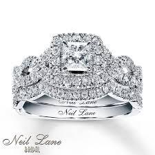 bridal sets kayoutlet neil bridal set 1 1 6 ct tw diamonds 14k white gold