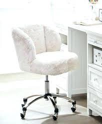 pink furry desk chair fuzzy office chair incredible white fur desk com faux regarding 13