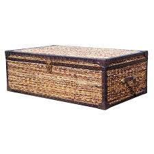 Seagrass Storage Ottoman Seagrass Coffee Table Trunk Rascalartsnyc