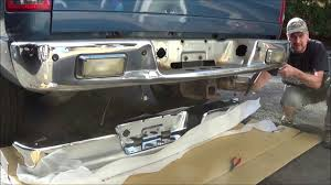 2003 dodge ram 1500 rear bumper how to replace the rear bumper on a 2004 dodge ram up
