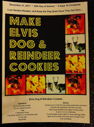 advent shadowbox day 25 elvis dog and reindeer cookies the