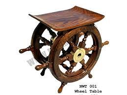pirate home decor nagina international 18 nautical wooden wheel table pirate home