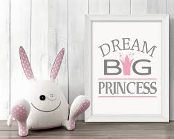 Nursery Decor Cape Town by Dream Big Princess Wall Art Nursery Printable Poster