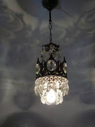 Basket Chandeliers Vintage Brass And Crystal Small Basket Chandelier Ebay D E C O
