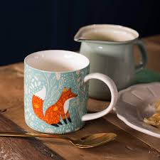 Fox Mug by Ulster Weavers Foraging Fox Bone China Mug Dove Mill