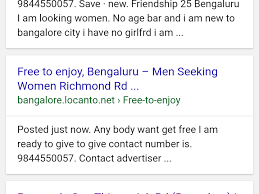 Seeking In Bangalore Locanto Complaints
