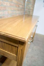 custom white oak buffet table
