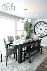 dining table christmas decorations coastal decor kitchen table how to decorate with large clocks