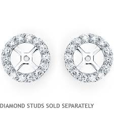 jacket earrings vs2 clarity i color diamond 14kt white gold earring jackets