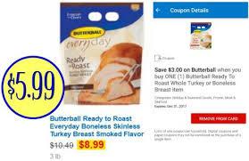 boneless turkey breast for sale butterball deal boneless skinless turkey breast just 5 99