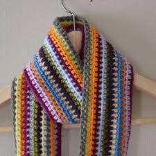 simple pattern crochet scarf crochet in color scrapadelic scarf