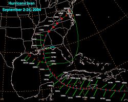 Hurricane Tracking Map Hurricane Ivan September 2 26 2004