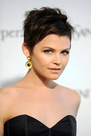short piecey haircuts for women ginnifer goodwin short haircut brunette pixie cut with piecey