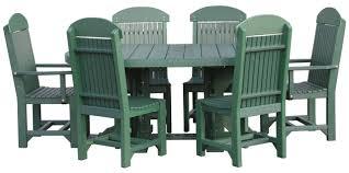 Outdoor Furniture Sarasota Fl 4 U0027x6 U2032 Oval Table Set With Chairs Polywood Dutch Haus Custom