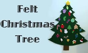felt christmas tree youtube