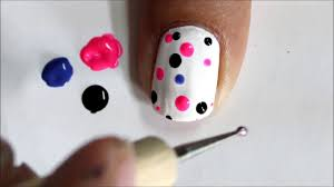 Nail Art Designs To Do At Home Very Easy Nail Art For Beginners Cute Polka Dots Beginners