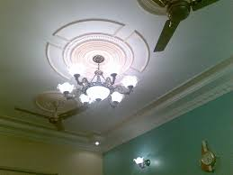p o p design in ceiling simple living room house decoration for