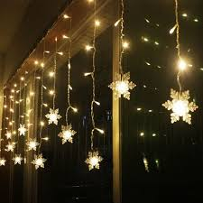 Christmas Window Decorations Led by Aliexpress Com Buy Snow Shape Led Curtain String 120leds 24drop