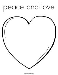 peace love coloring twisty noodle