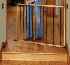 Kidco Convertible Crib Rail by Kidco Designer Angle Mount 27 5 42 5 Inch Wood Safeway Gate Oak