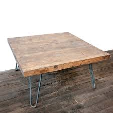 wooden coffee table with hairpin legs white shanty
