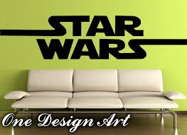 Home Decor Logo Big Star Wars Logo Wall Decal Mural Arts Home Decor Sticker