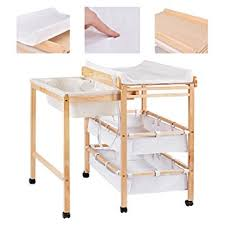 Changing Table Storage Costway Baby Changing Table Nursery Bath Changer Unit Storage