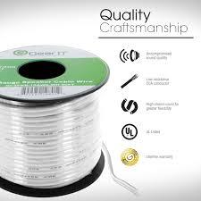 gearit 16 gauge speaker wire 500 feet 152 meters white pull