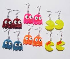 pacman earrings pacman earrings by amorgenroth22 on etsy 5 00 damn