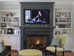 decorations ideas interior trendy fireplace ideas with tv frame